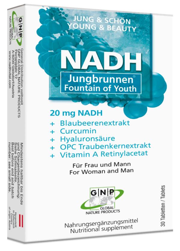 NADH Jungbrunnen Jung und schön mit Vitaminen