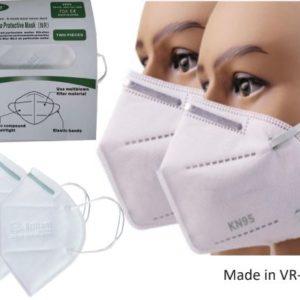 Mensch mit Chirurgische 3 Schicht KN95 Gesichtsmaske atemschutz maske Paket